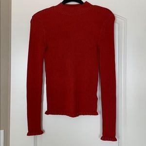 Miss Selfridge - Mock sweater. Size 4!